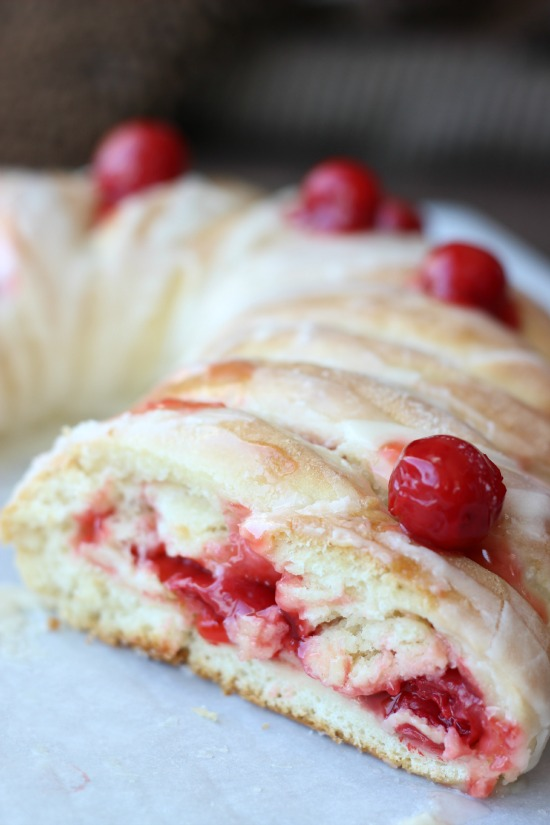 Candy Cane Braided Bread Recipe With Cherry Filling