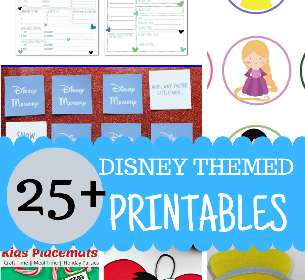 The best collection of Disney printables! Trip planning, party ideas, countdowns! It's all here!
