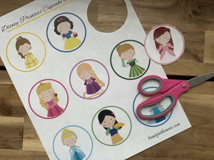 Disney Princess Cupcake Toppers with Printable and Tutorial