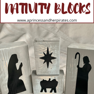 DIY Wood Nativity Blocks