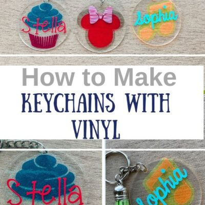 DIY Acrylic Keychains with Vinyl