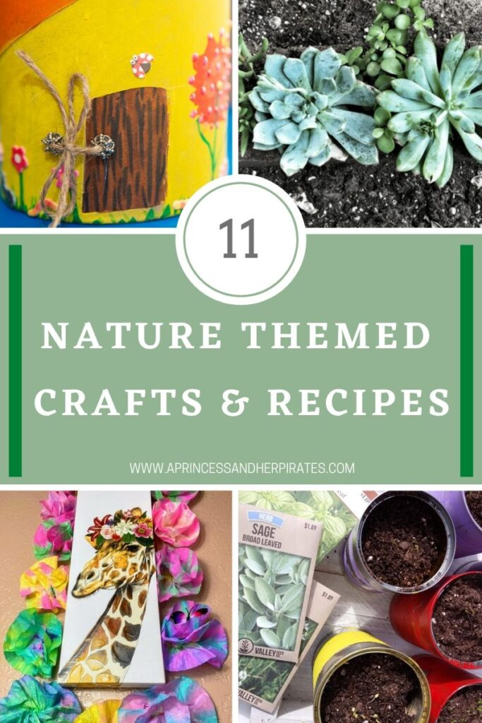 Nature themed crafts and recipes to get your family outside and enjoying time together.