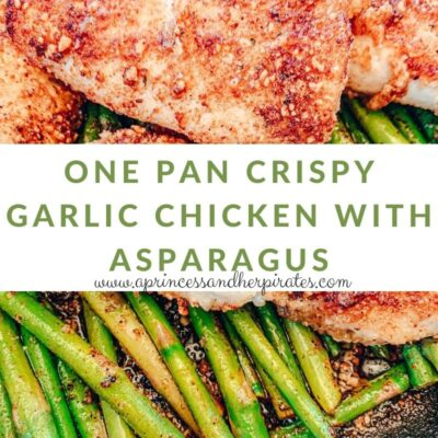 One Pan Crispy Garlic Chicken with Asparagus