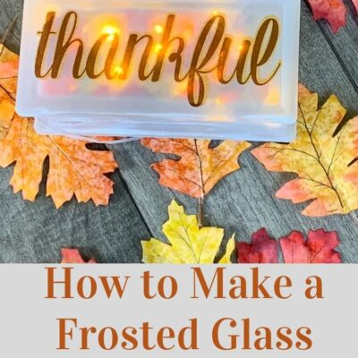 DIY Frosted Glass Block