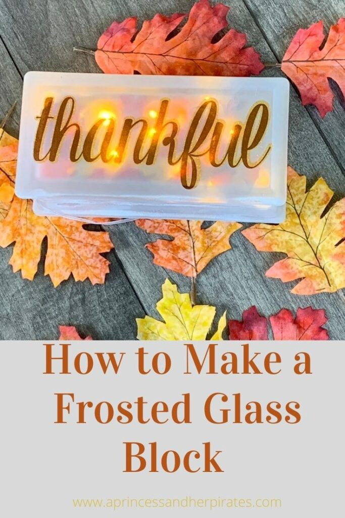 DIY Frosted Glass Block #diy #fall #falldecor #glassblock #crafts
