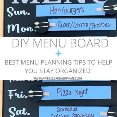 Menu Planning Basics + A DIY Menu Board