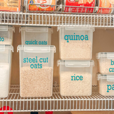 DIY Pantry Labels + Kitchen Organization Tips & Tricks