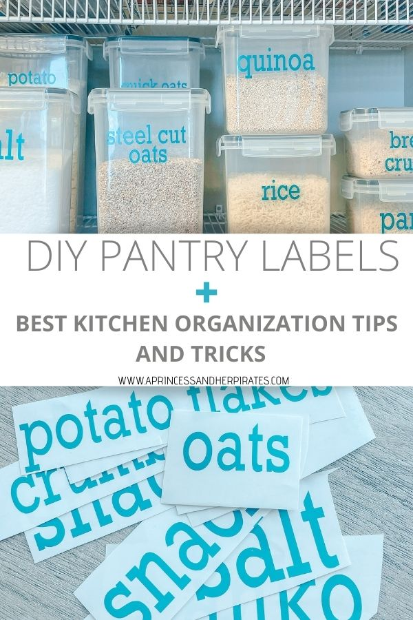 DIY Pantry Labels to organize your home #diypantrylabels #kitchenorganization #homeorganization