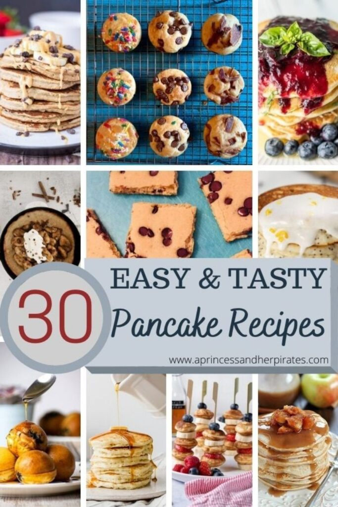 Easy and Tasty Pancake Recipes for any meal of the day! #pancakerecipes #easyrecipes